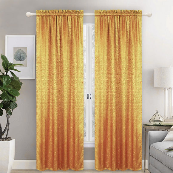 Embossed Lined And Interlined Rod Pocket Window Curtain Panel, 81002 - OPT FASHION WHOLESALE
