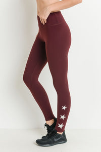 Tri Star Sleek, High Waisted Leggings