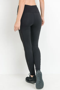 Regally Ribbed, High Waisted Leggings