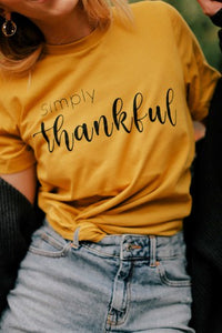 Simply Thankful, Graphic Tee