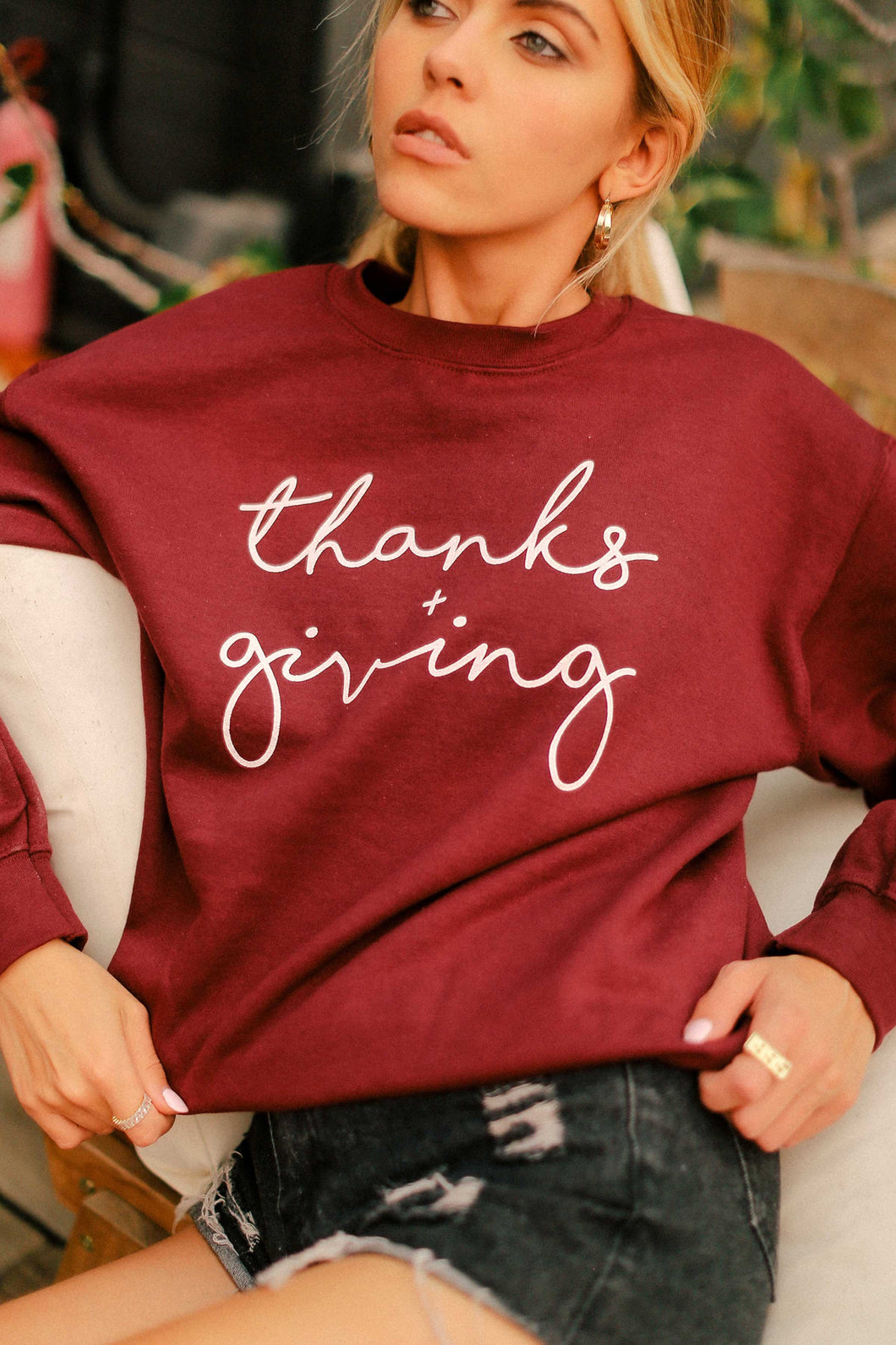 Thanks + Giving, Pullover