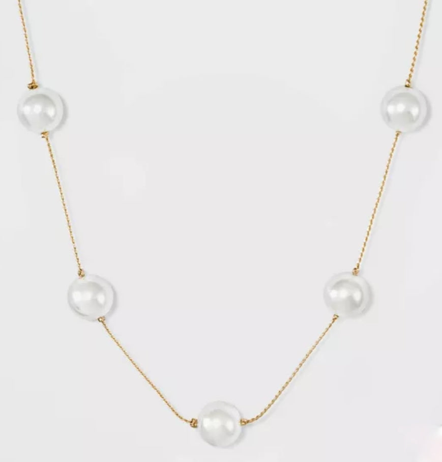 Floating Pearls, Necklace