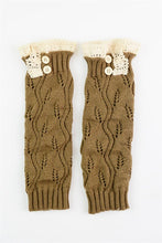 Crocheted Confidence, Boot Socks - Olive
