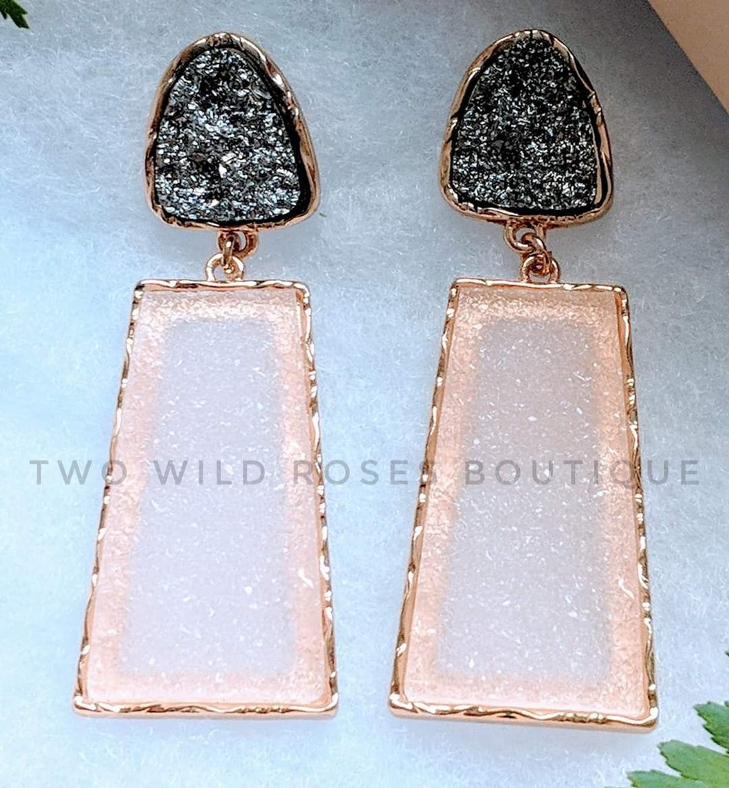 Stone Statement, Earrings