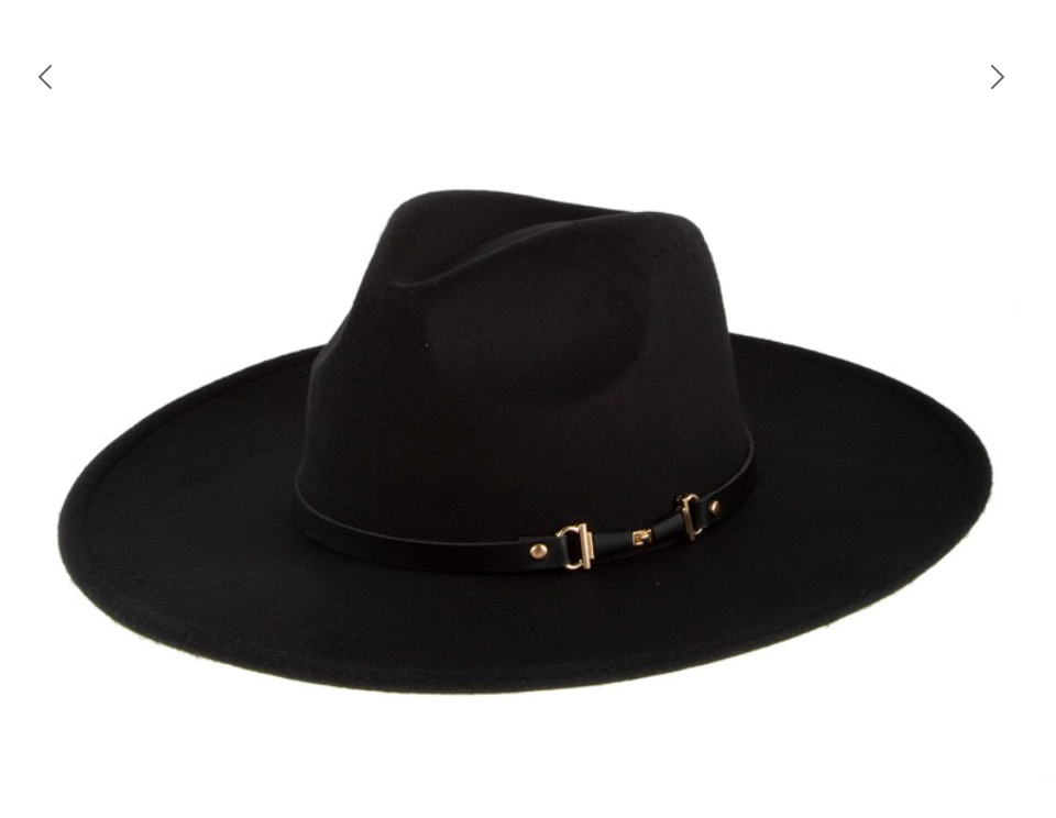 Fashion Forward, Felt Fedora - Ebony (Wider Brim)