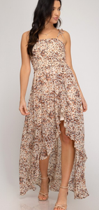 Spotted, Smock Dress - Cream