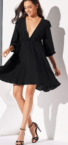 Take Me Out, Swing Dress - Black