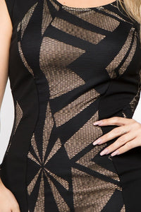 Curvy Geo Body Con Dress