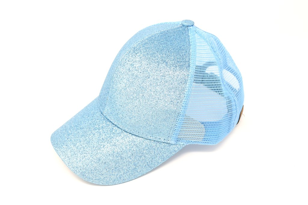 High ponytail baseball cap, Glitter