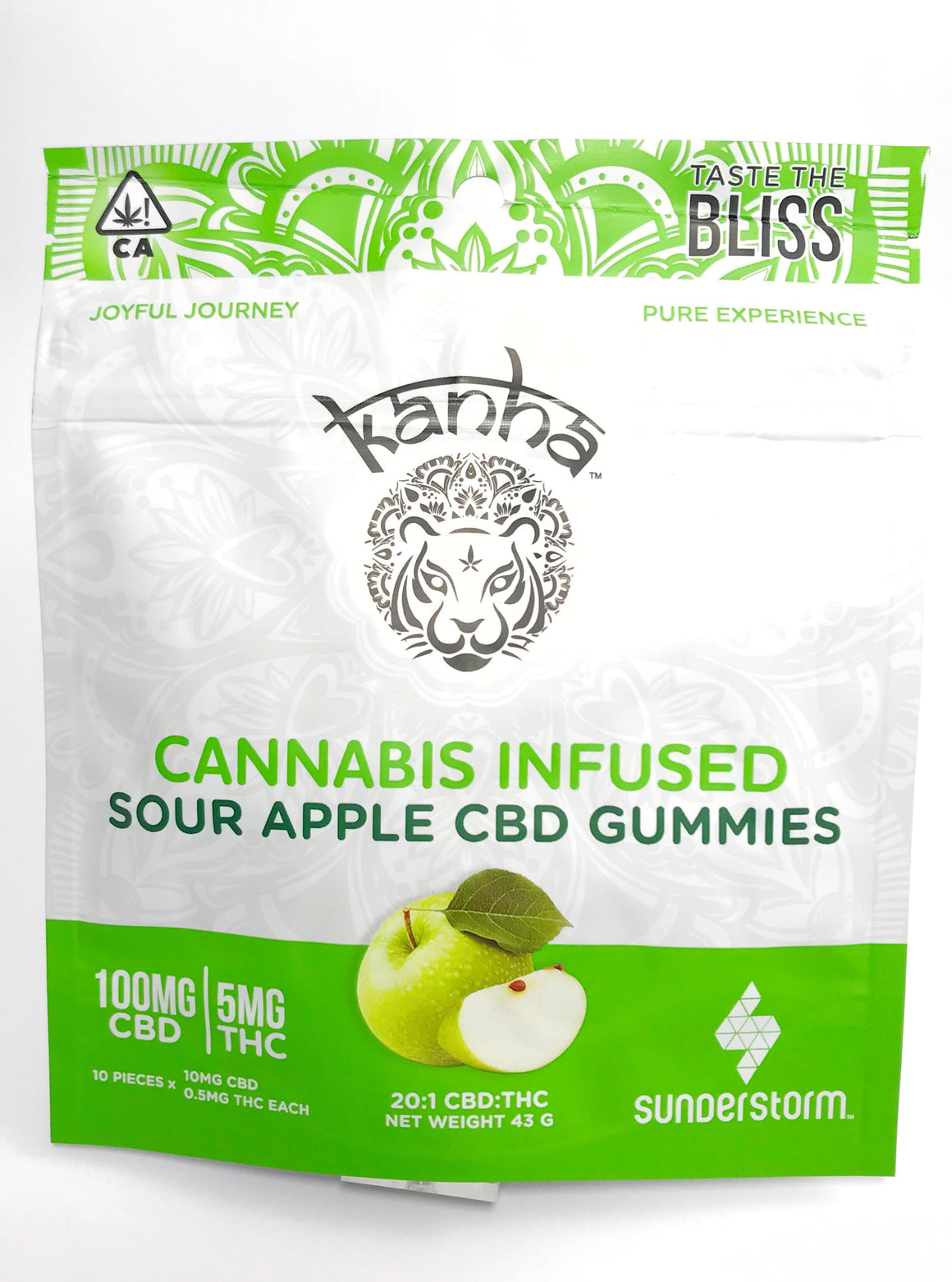 Kanha Treats- Sour Apple 20:1 CBD Gummies