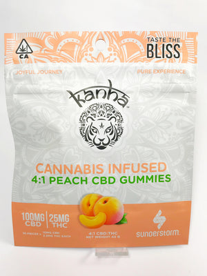 Kanha - Treats 4:1 Peach CBD Gummies