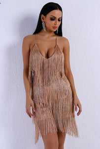 Sexy V Neck Off Shoulder Cross Tassel Backless - Trenberry