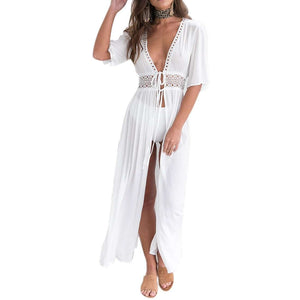 Summer Beach Dress Chiffon Maxi Dress - Trenberry