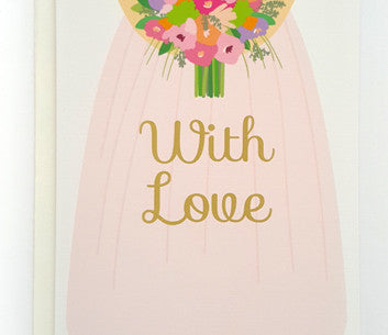 With Love Floral Bouquet Greeting Card
