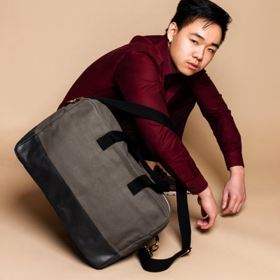 Color Block Duffle - Gray - Tag&Crew