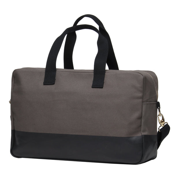Color Block Duffle - Gray