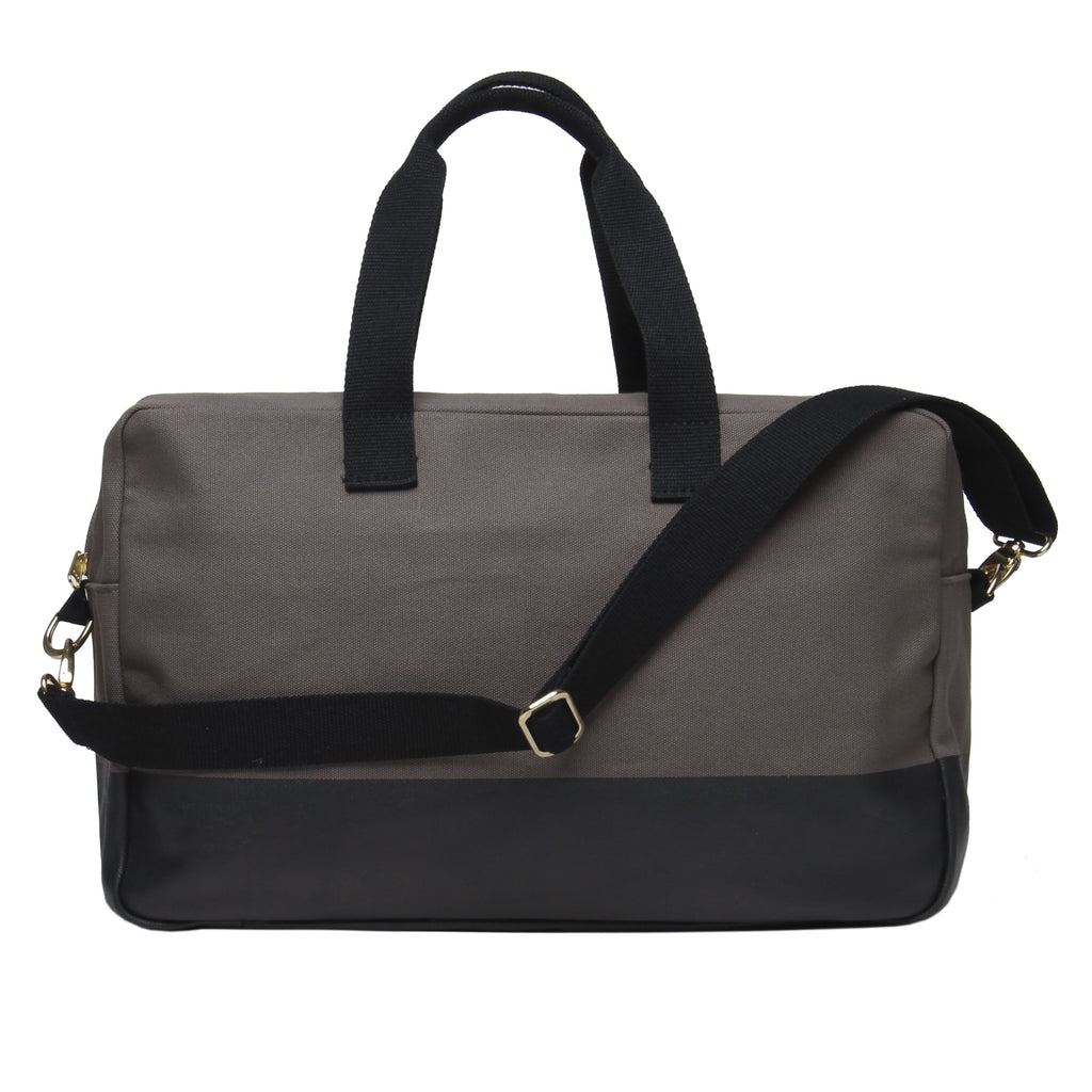 Color Block Duffle - Grey