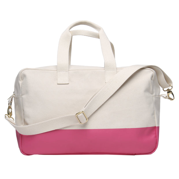 Color Block Duffle - Natural