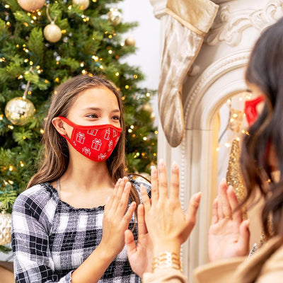 Fashion Mask Christmas Present Tag&Crew