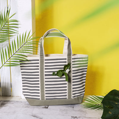 Boat Tote Medium Karma Stripe - Tag&Crew