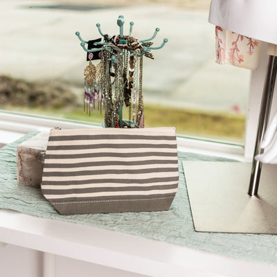Make Up Bag Karma Stripe accessories TagandCrew