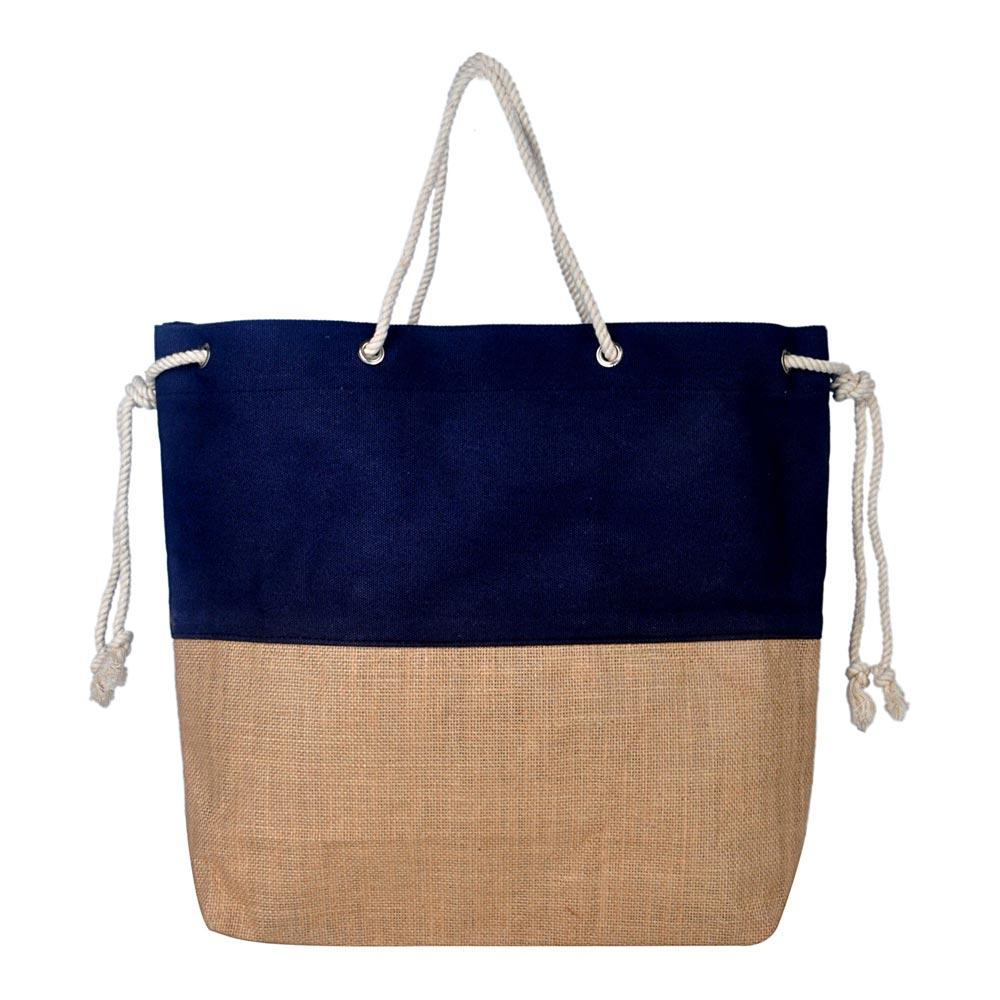 Jute with Rope Navy