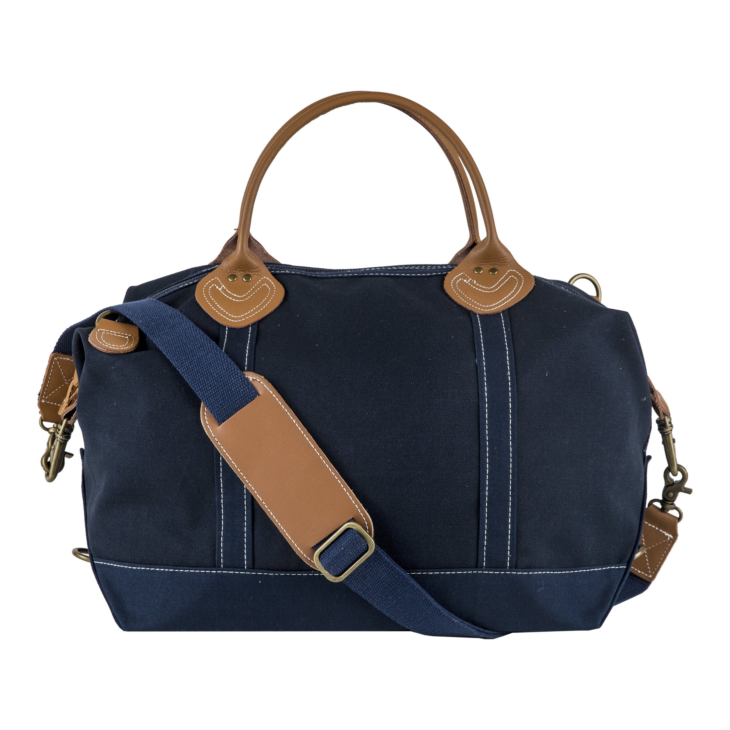 Signature Duffle Solid Navy