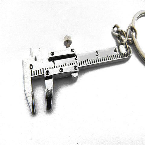 Movable Vernier Caliper Ruler Model Keychain - Mind and Mantra