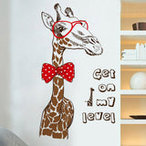 Giraffe Get on my level wall art decal - Mind and Mantra