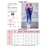 Purple Lighting High Waist Yoga Fitness Leggings - Mind and Mantra