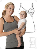 Glamourmom® Nursing Bra Long Top w/Adjustable Chest Band