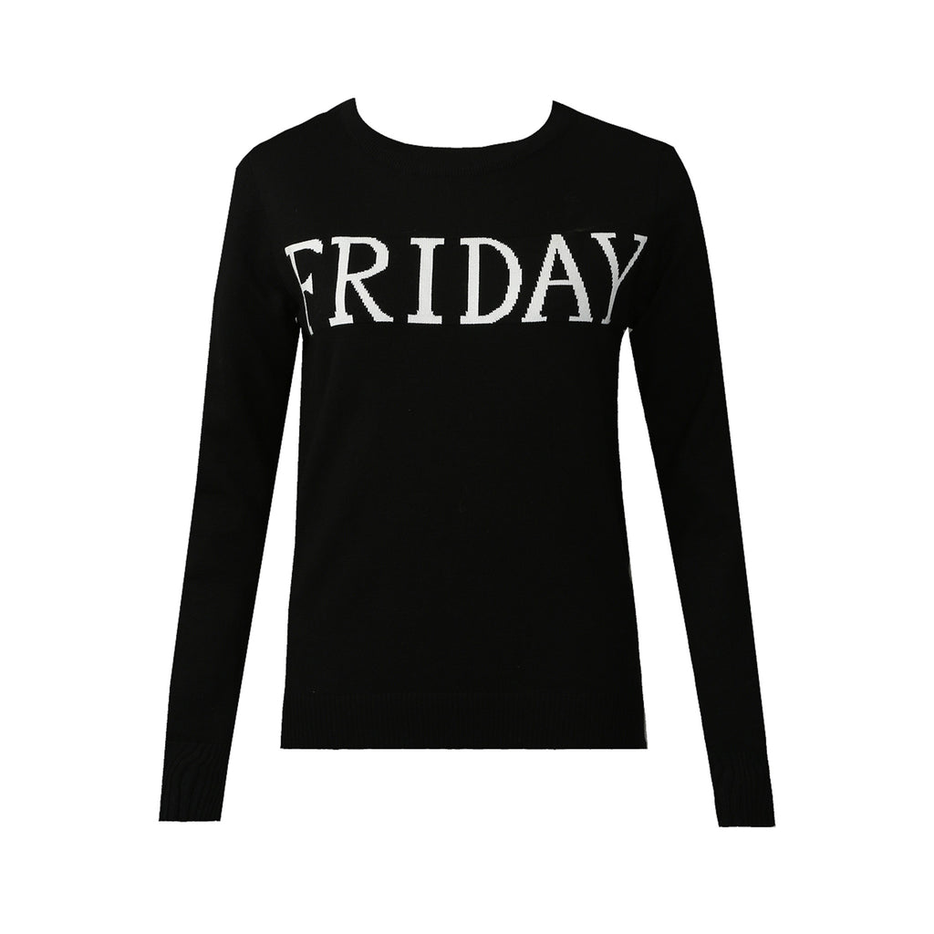 FRIDAY BLACK WEEKDAY JUMPER - Celeb Threads