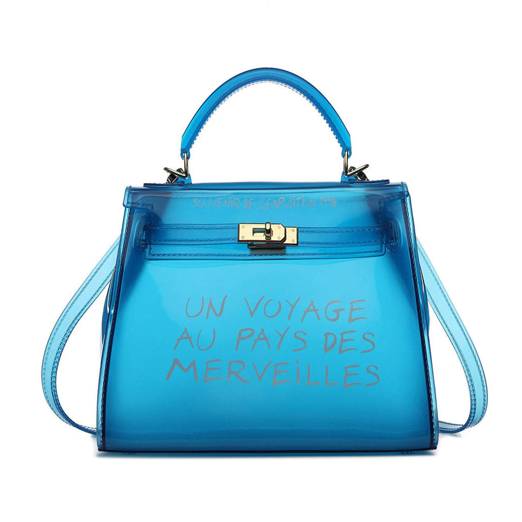 KIKI BLUE UN VOYAGE GRAFFITI BAG LARGE - Celeb Threads