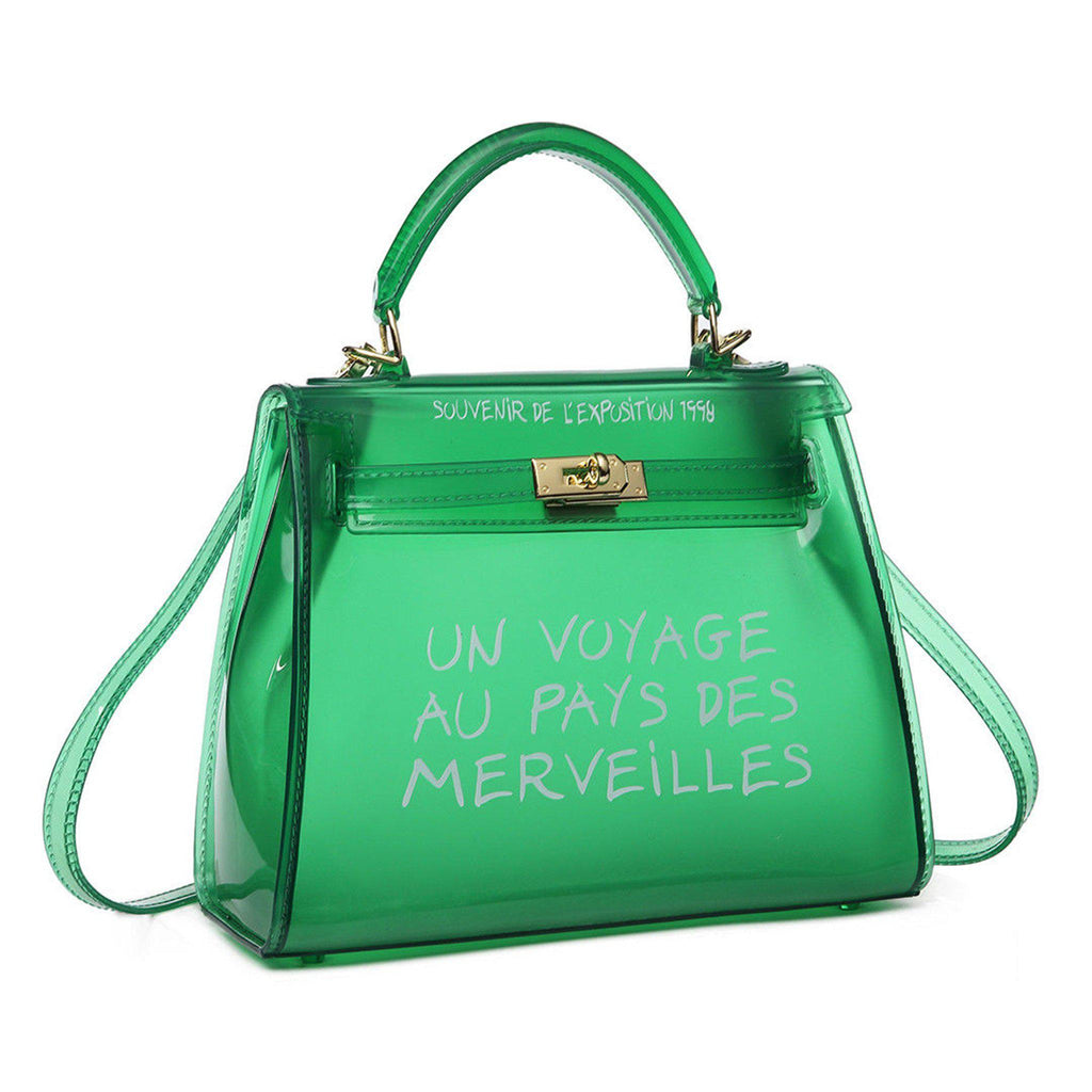KIKI GREEN UN VOYAGE GRAFFITI BAG LARGE - Celeb Threads