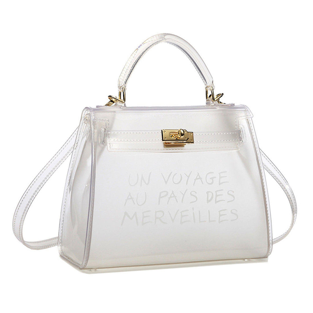 KIKI CLEAR UN VOYAGE GRAFFITI BAG SMALL - Celeb Threads