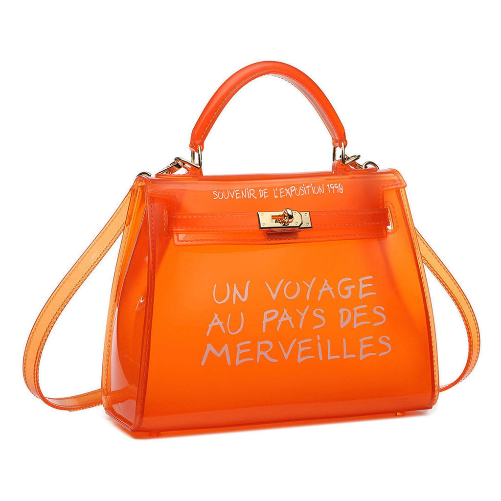 KIKI ORANGE UN VOYAGE GRAFFITI BAG LARGE - Celeb Threads