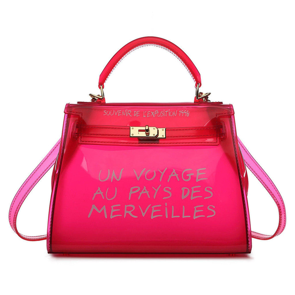 KIKI RED UN VOYAGE GRAFFITI BAG SMALL - Celeb Threads