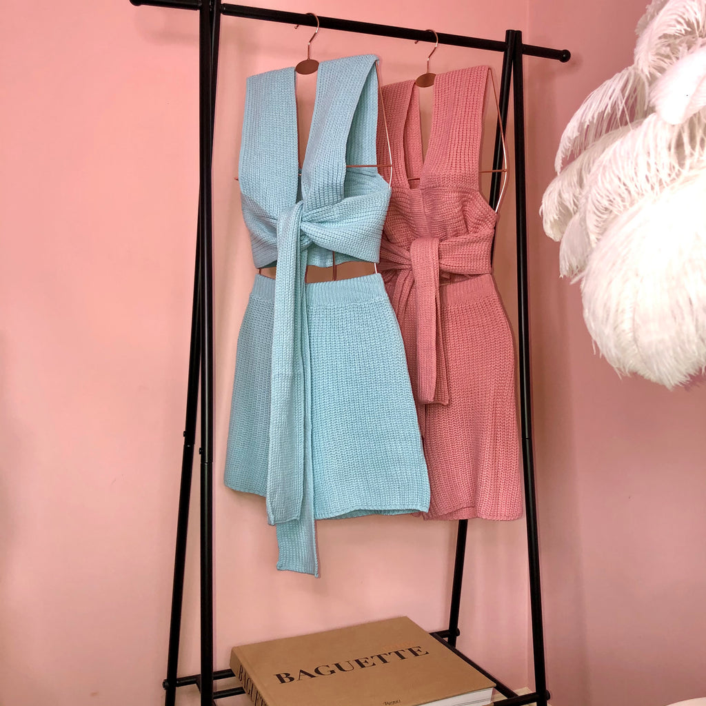 Jade Pink Multi Way Knit Co Ord Two Piece Set