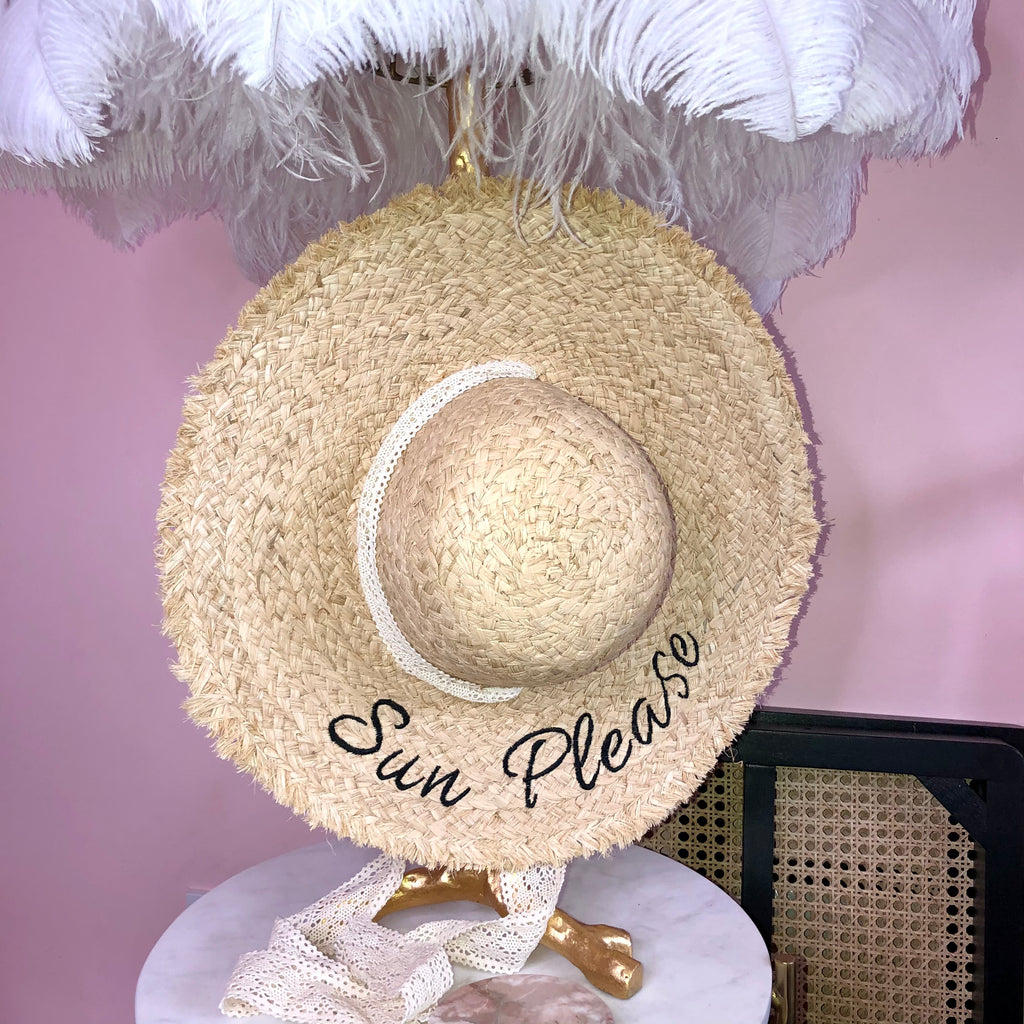 Sun Please Raffia Hat