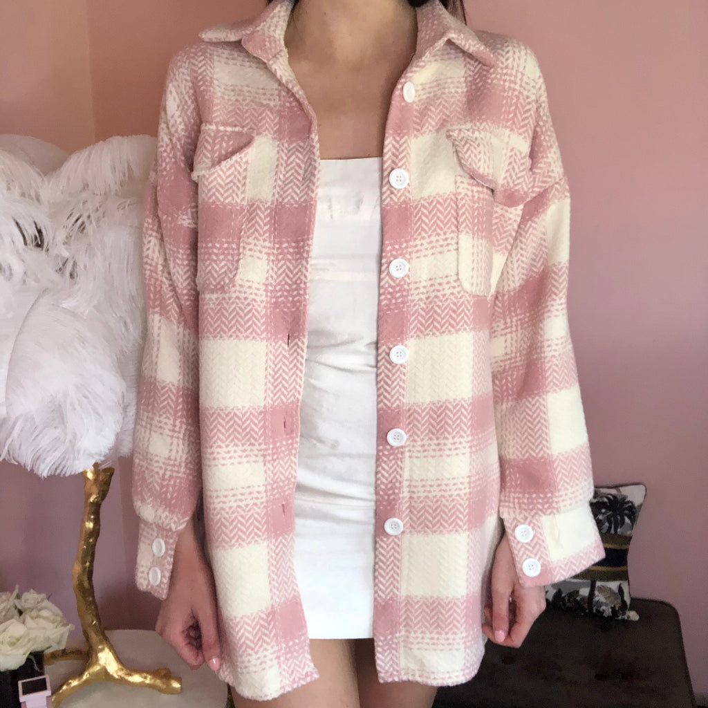 NATALIA PINK CHECKED SHIRT
