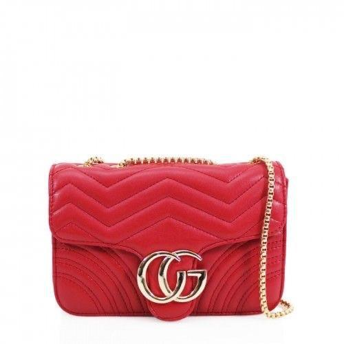 GG RED CROSSBODY GUCCI INSPIRED MARMONT BAG - Celeb Threads