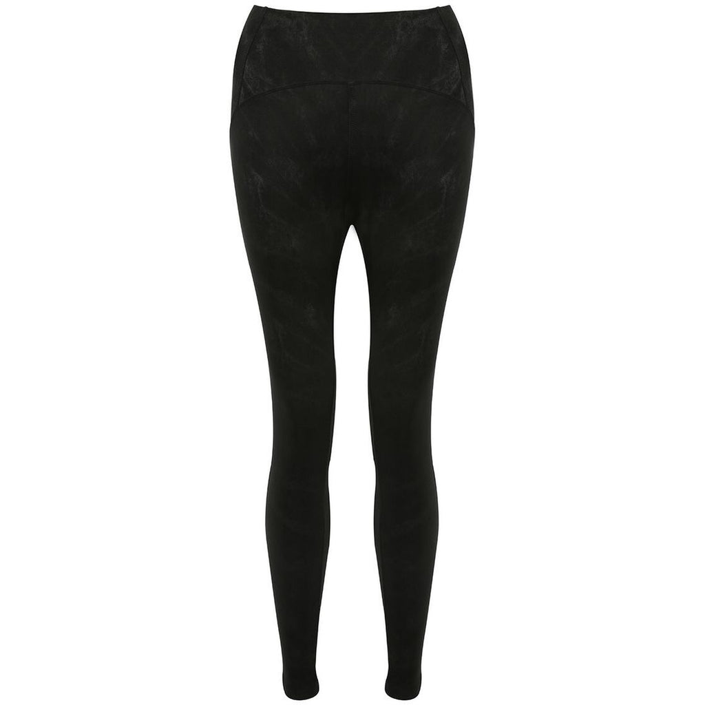 LIBBY BLACK HIGH WAIST SUEDE LOOK LEGGING - Celeb Threads