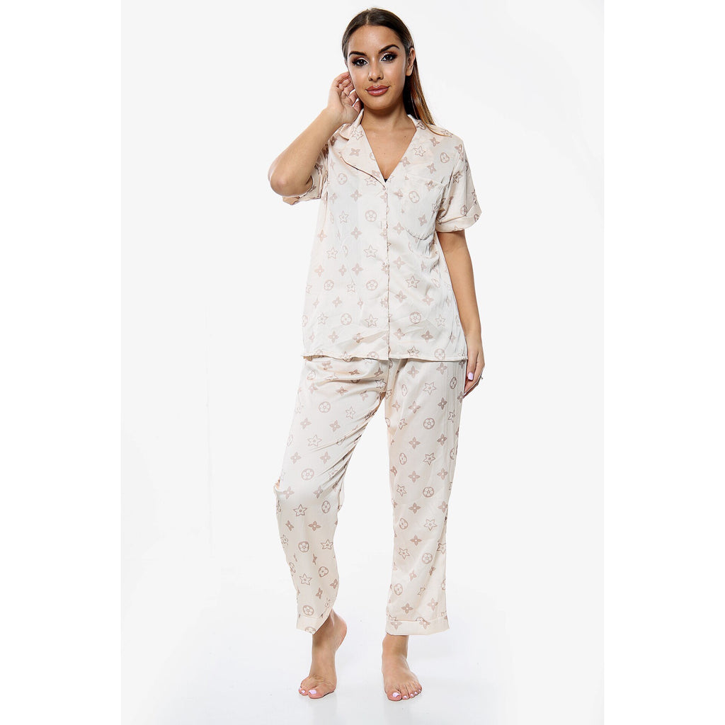 LOIS BEIGE PYJAMAS LONG SET