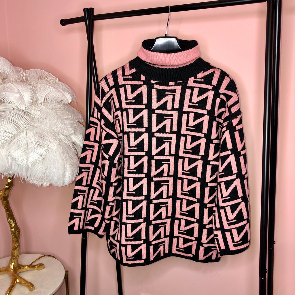 FF PINK ROLL NECK JUMPER