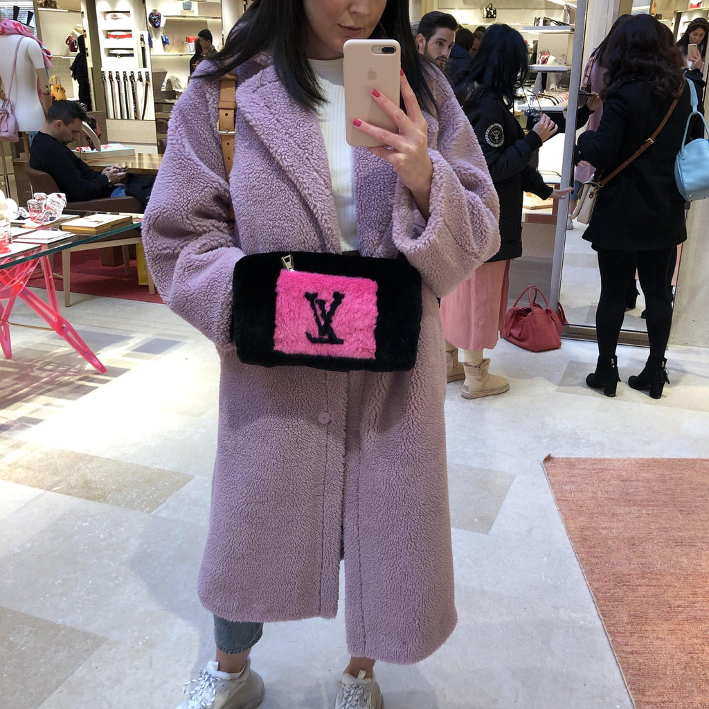 GIGI LILAC TEDDY COAT - Celeb Threads