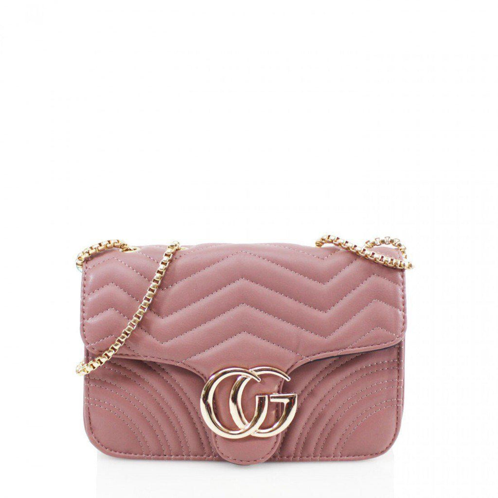 GG PINK CROSSBODY GUCCI INSPIRED MARMONT BAG - Celeb Threads