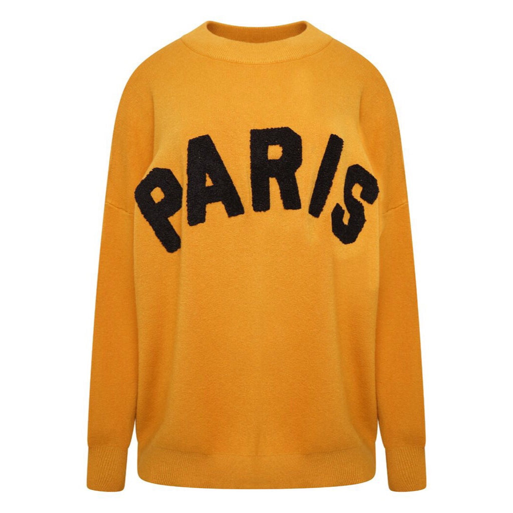 J'ADORE PARIS MUSTARD JUMPER - Celeb Threads