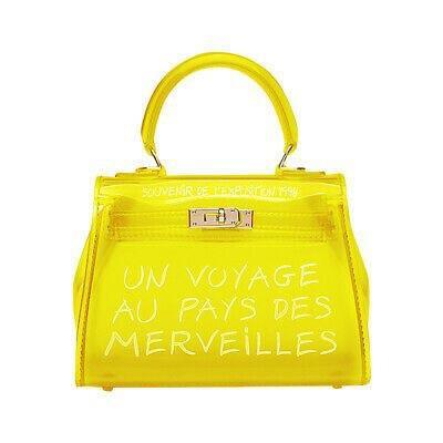 KIKI YELLOW UN VOYAGE GRAFFITI BAG SMALL - Celeb Threads