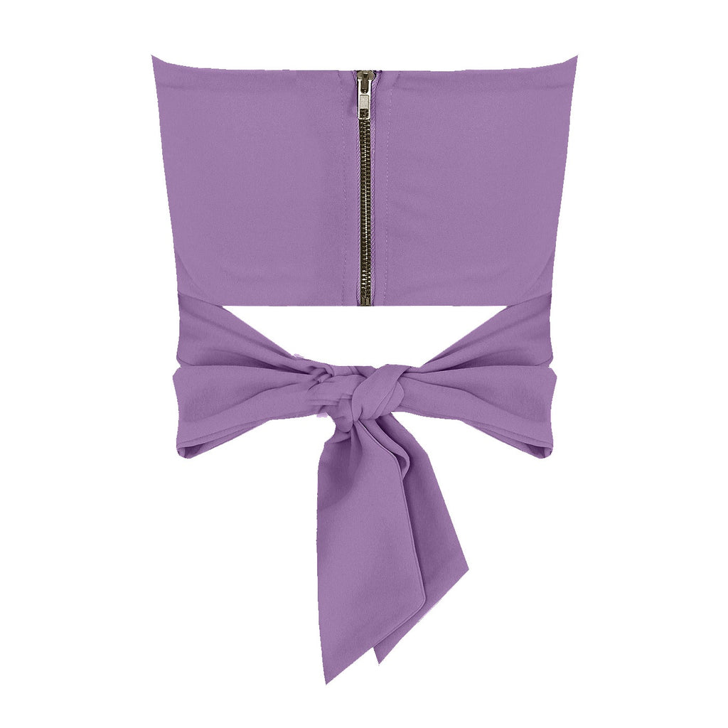 MILLIE BANDEAU BOW TIE TOP - Celeb Threads