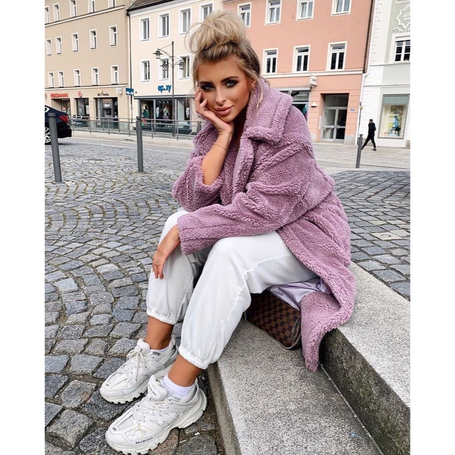GIGI LILAC TEDDY COAT